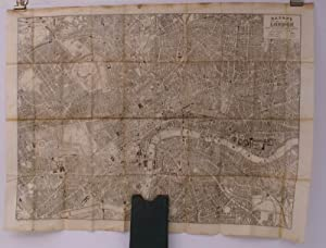 Bacon's New Map of Central London. Divided into Half Mile Squares and Circles. Scale: Four Inches...