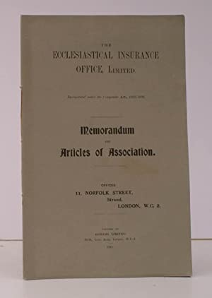Memorandum and Articles of Association. NEAR FINE COPY IN WRAPPERS: ECCLESIASTICAL INSURANCE OFFICE...