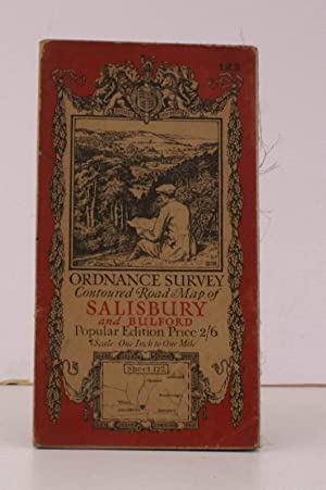 Ordnance Survey Contoured Road Map of Salisbury and Bulford. Sheet 122. Popular Edition. Scale: One...