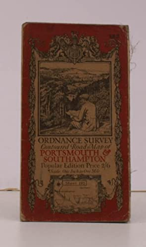 Ordnance Survey Contoured Road Map of Portsmouth and Southampton. Sheet 132. Popular Edition. Sca...
