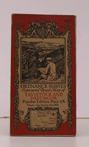 Ordnance Survey Contoured Road Map of Tavistock and Dartmoor. Sheet 137. Popular Edition. Scale: ...