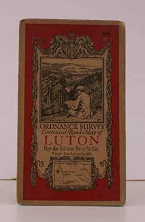 Ordnance Survey Contoured Road Map of Luton. Sheet 95. Scale: One Inch to to One Mile. BRIGHT, ...