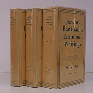 Jeremy Bentham's Economic Writings. Critical Edition based: Jeremy BENTHAM