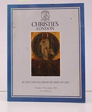 [Sale Catalogue of] Icons and Russian Works of Art. 1 November 1988. Sale Code: QUEEN-3932. NEAR ...