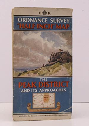 Ordnance Survey Half-Inch Map. The Peak District and its Approaches. [Scale: Half-Inch to One Mil...