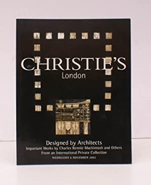 [Sale Catalogue of] Important Works by Charles Rennie Mackintosh and others. 6 November 2002. Sal...
