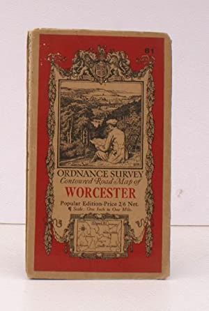 Ordnance Survey Contoured Road Map of Worcester. Popular Edition. Sheet 81. Scale: One Inch to On...