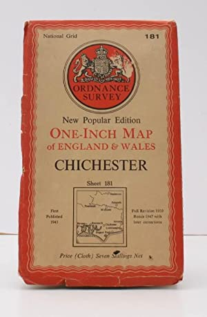 Ordnance Survey One-Inch Map. Chichester. New Popular Edition. Sheet 181. Full revision 1930. Roa...