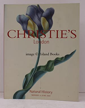 [Sale Catalogue of Paintings and Illustrations of] Natural History. 4 June 2001. Sale Code: BOLDR...