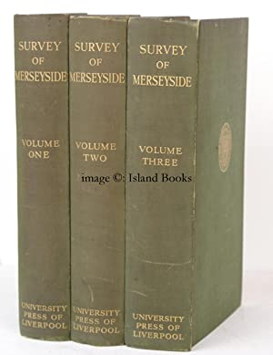 The Social Survey of Merseyside. Edited by D. Caradog Jones. NEAR FINE SET WITH H S TOYNBEE'S ...