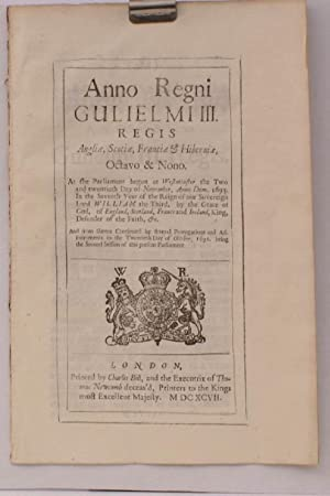 An Act to enforce the Act for the Increase and Incouragement of Seamen. WITH FINE WOODBLOCK ARMS ON...