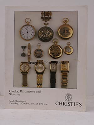 [Sale Catalogue of] Clocks, Barometers and Watches. 1 October 1992. Sale Code: JLS 4851.