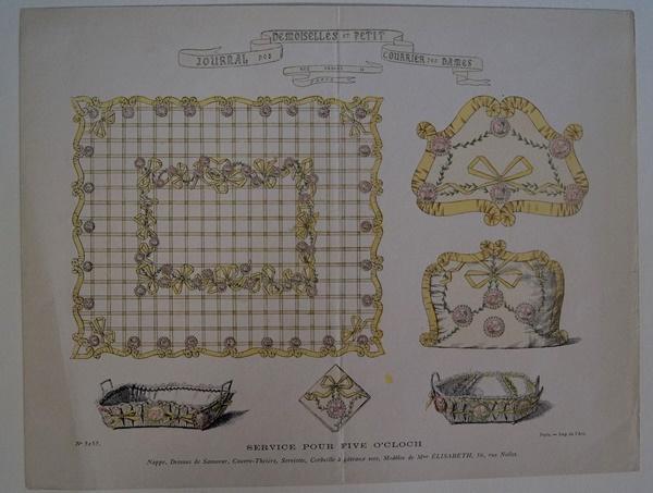 Original Mode-Stahlstich aus Journal des Demoiselles et