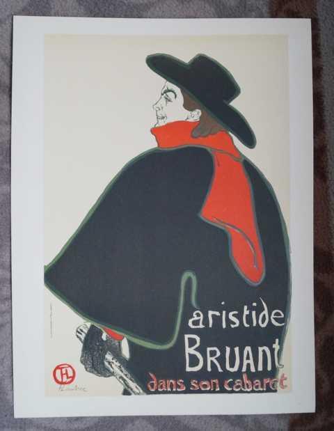 Aristide Bruant dans son cabaret. Original Farblithographie: Toulouse-Lautrec, Henri de: