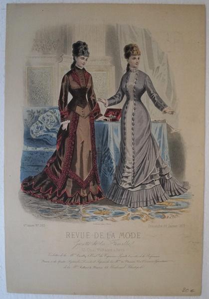 Mode. Altkolorierter Stahlstich 1877 Original Stahlstich aus