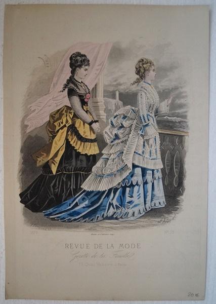 Mode. Altkolorierter Stahlstich 1873 Original Stahlstich aus