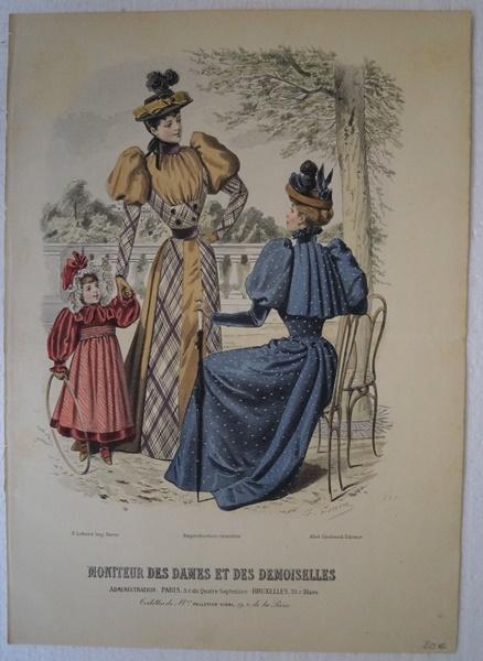 Mode. Moniteur des Dames et des Demoiselles.