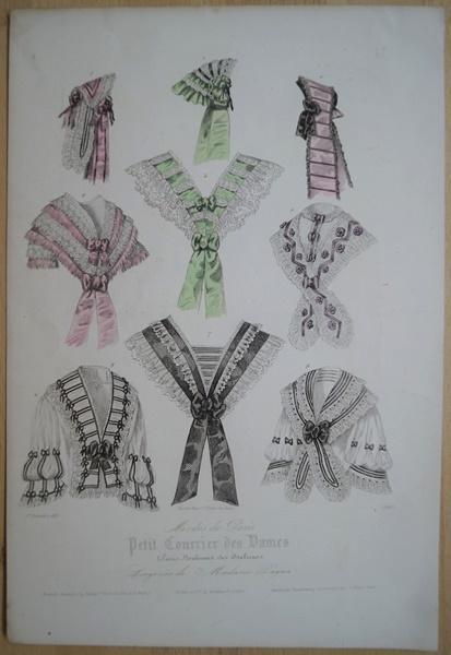 """Mode. Original Stahlstich aus """"Petit Courrier des"""