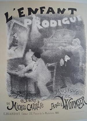 L  Enfant Prodigue . Original Farblithographie aus: Willette, Adolphe: