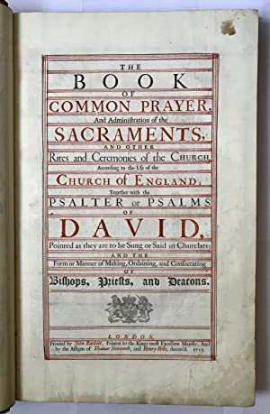 The Book of Common Prayer, and Administration: CHURCH OF ENGLAND