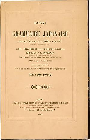 Essai de Grammaire Japonaise.: Curtius (J.H.Donker)