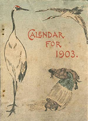 Calendar for the Year 1903.: Crepe paper. Calendar.