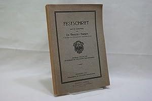 Festschrift zum 60. Geburtstag von Theodor Hampe: Germanisches Nationalmuseum Nürnberg