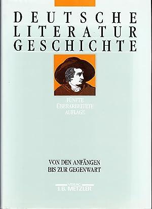 Deutsche Literaturgeschichte. Von den Anfängen bis zur: Beutin,Wolfgang; Ehlert, Klaus;