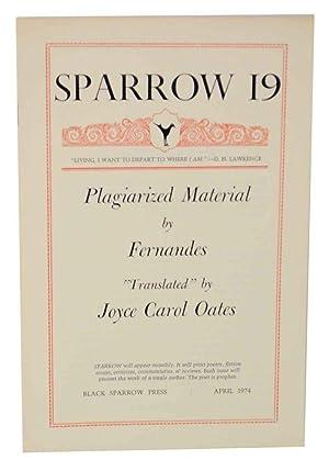 "Sparrow 19: Plagariazed Material by Ferandes ""Translated"": OATES, Joyce Carol"