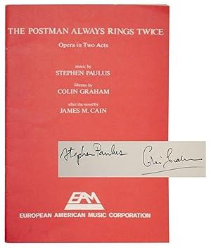 The Postman Always Rings Twice: Opera in: CAIN, James M.