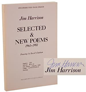 Selected & New Poems 1961-1981 (Signed Uncorrected: HARRISON, Jim