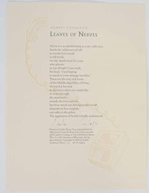 Leaves of Nerves (Signed Broadside)