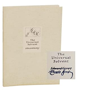 Q.R.V. The Universal Solvent (Signed First Edition): GOREY, Edward