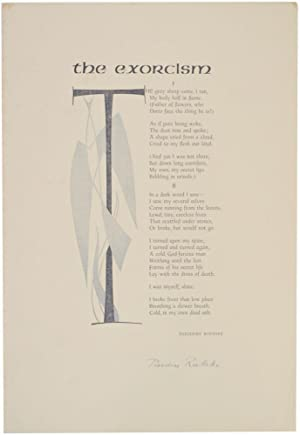 The Exorcism (Signed Broadside)