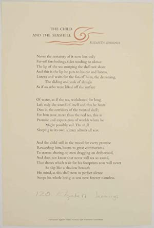 The Child and the Seashell (Signed Broadside First Edition)