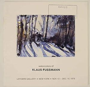 Klaus Fussmann: Watercolors: FUSSMANN, Klaus and