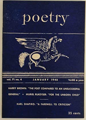 Poetry Magazine vol. 71 no. 4 January: DILLON, George, Marion