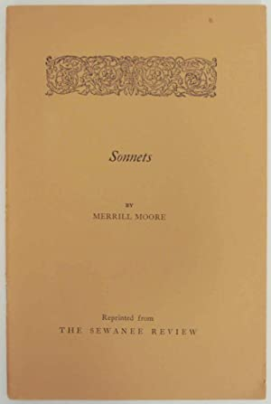 Sonnets Reprinted from The Sewanee Review 1928-1935: MOORE, Merrill