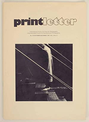 Printletter: International Forum for Fine Art Photography: MISANI, Marco (editor)