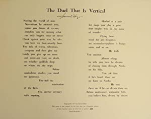The Duel that is Vertical (Signed Broadside)