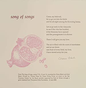 Song of Songs (Signed Broadside)