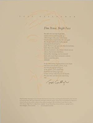 Dim House, Bright Face (Signed Broadside First Edition)