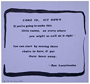 Come In, Sit Down (Broadside)
