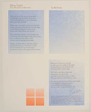 More Light & The Window at Brimness (Signed Broadside)