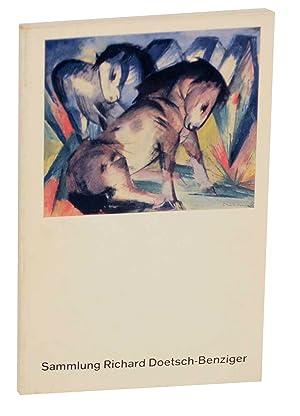 Katalog der Sammlung Richard Doetsch-Benziger: Malerei, Zeichnung: BOSSHARD-REBMANN, Magrit