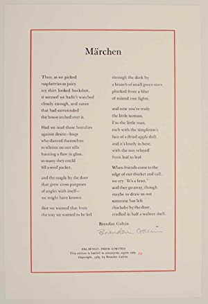 Marchen (Signed Broadside)