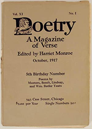 Poetry: A Magazine of Verse October 1917: MONROE, Harriet (editor)