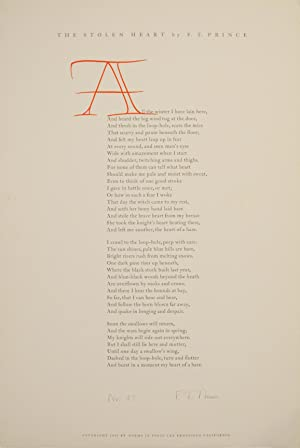 The Stolen Heart (Signed Broadside First Edition)