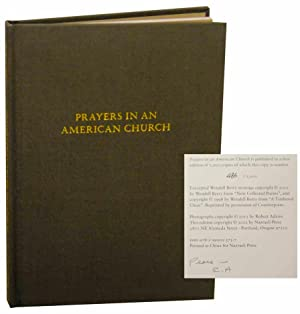 Prayers in an American Church (Signed First Edition)