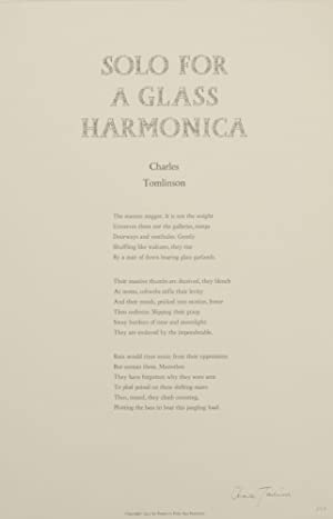 Solo For a Glass Harmonica (Signed Broadside First Edition)